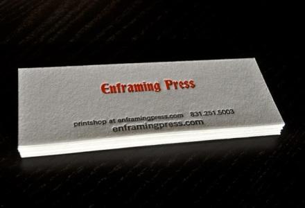 Business cards enframing press a letterpress printshop in santa cruz the red and the black colourmoves