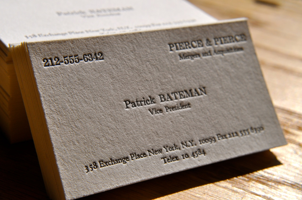 that s bone and the lettering is something called silian rail  that s bone and the lettering is something called silian rail things i love american psycho business cards and personal branding